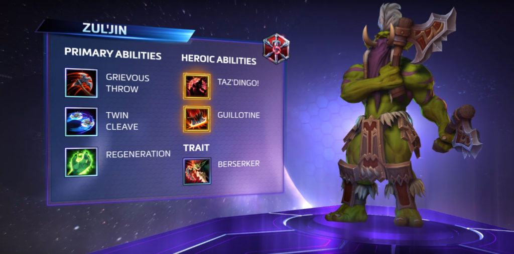 Zul'jin's abilities dish out tons of damage at low HP.