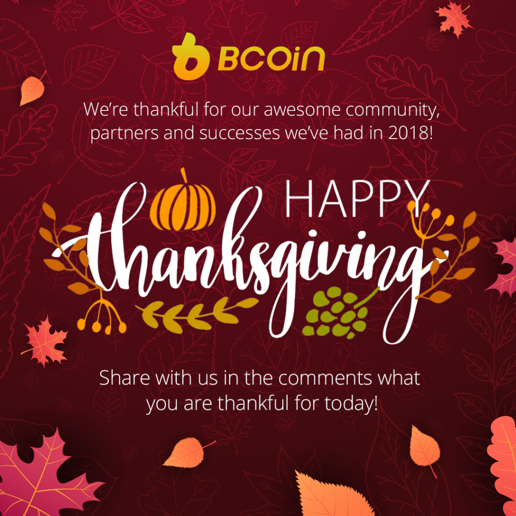 bcoin thanksgiving instagram